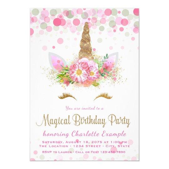 cute unicorn face birthday party invitations zazzle com