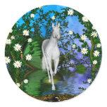 Cute Unicorn Fantasy 1 Classic Round Sticker