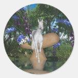 Cute Unicorn Fantasy 1 Round Stickers