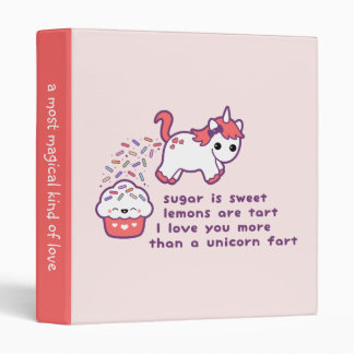 Cute Unicorn Fart Binder
