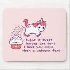 Cute Unicorn Fart Mouse Pad