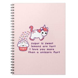 Cute Unicorn Fart Notebook