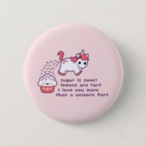 Cute Unicorn Fart Pinback Button