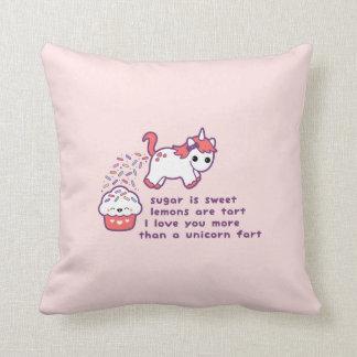 Cute Unicorn Fart Throw Pillow