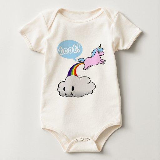 Cute! Unicorn Fart... Toot! Baby Bodysuit