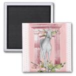 Cute Unicorn Flowers 1 Magnet