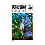 Cute Unicorn Flowers 1 Postage Stamp