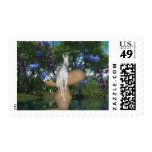 Cute Unicorn Flowers 1 Postage Stamps
