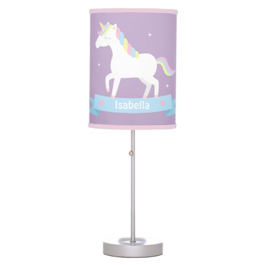 Cute Unicorn Girls Bedroom Decor Table Light Table Lamp Zazzle Com