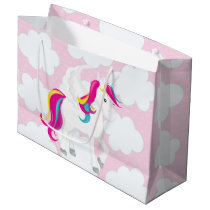 Cute Unicorn in the clouds party bag
