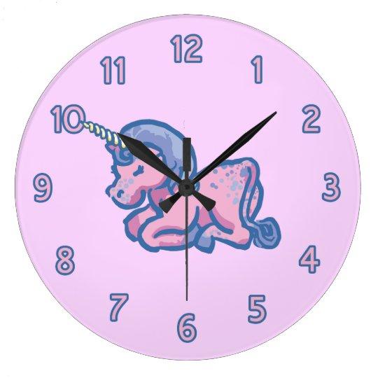 Cute Unicorn Large Clock