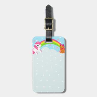 cute unicorn Luggage Tag