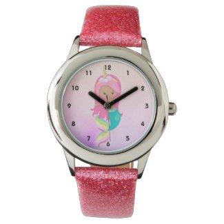 Cute Unicorn Mermaid Pink Girl Kid's  Watch