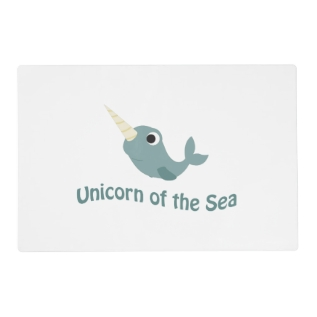Cute Unicorn Of the Sea Placemat at Zazzle