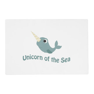 Cute Unicorn Of the Sea Placemat