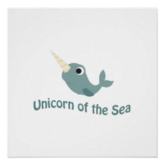 Cute Unicorn Of the Sea Poster