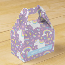 Cute Unicorn Pattern Birthday Party Favor Box