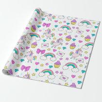 Cute Unicorn Pattern Wrapping Paper