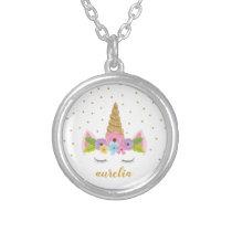 Cute Unicorn Personalized Necklace | Custom Color
