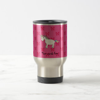 Cute unicorn pink butterflies 15 oz stainless steel travel mug