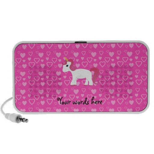 Cute unicorn pink hearts speaker system