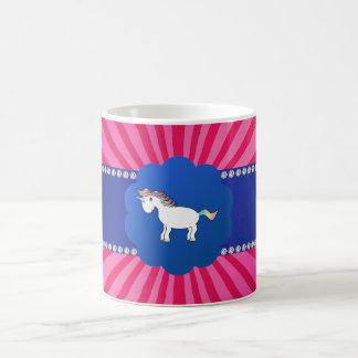 Cute unicorn pink sunburst classic white coffee mug