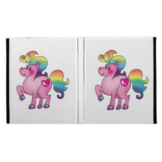 cute unicorn pony iPad folio covers