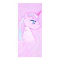 cute unicorn Rack Card