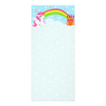 cute unicorn Rack Card