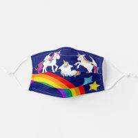 Cute Unicorn Rainbow Cloth Face Mask