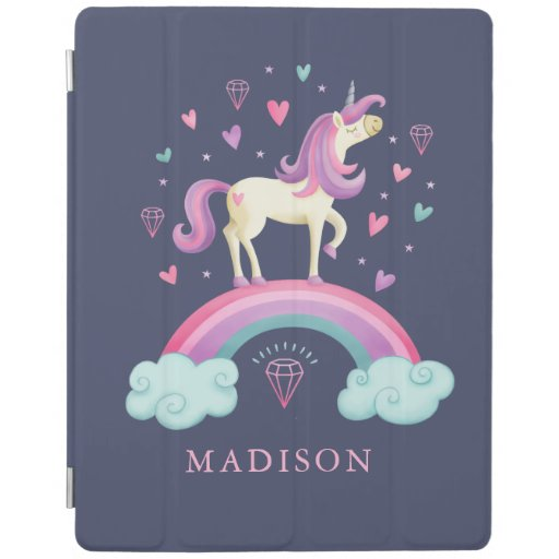 Cute Unicorn Rainbow iPad Smart Cover