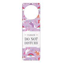 Cute Unicorn Rainbow Purple Door Hanger