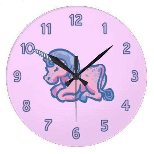 Cute Unicorn Round Wallclock