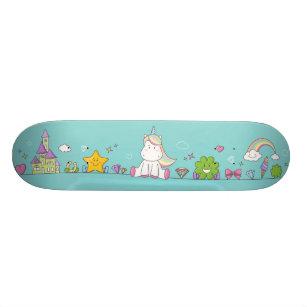 Cute unicorn skateboard for girls