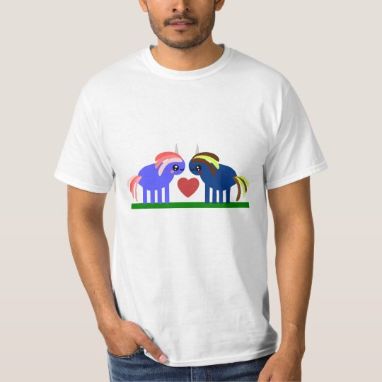 Cute Unicorns Fall in Love T-Shirt