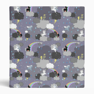 Cute Unicorns in a Thunderstorm Binder