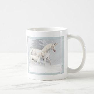 Cute Unicorns In Snow 1 Mugs