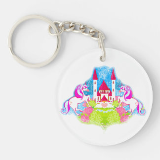 cute unicorns Key Ring