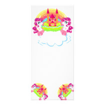 cute unicorns Rack Card