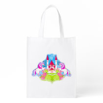 cute unicorns Reusable Grocery Bag