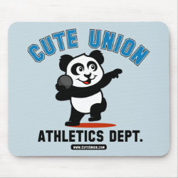 Cute Union Athletics Dept: Shot Put Mousepad