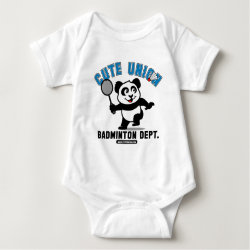 Cute Union Badminton Dept Baby Jersey Bodysuit