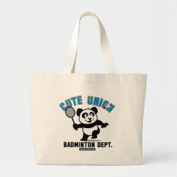Jumbo Tote Bag with Cute Union Badminton Dept design