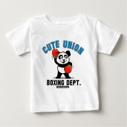 Baby Fine Jersey T-Shirt with Cute Union Boxing Department design