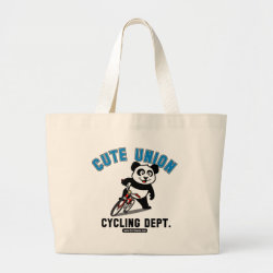 Jumbo Tote Bag with Cute Union Cycling Department design