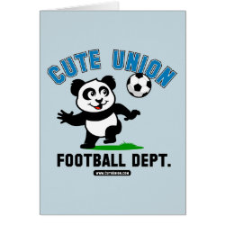 Greeting Card with Cute Union Football Department design