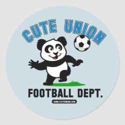Round Sticker with Cute Union Football Department design