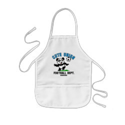 Kid's Apron with Cute Union Football Department design