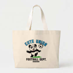 Jumbo Tote Bag with Cute Union Football Department design