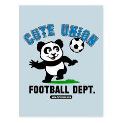 Postcard with Cute Union Football Department design